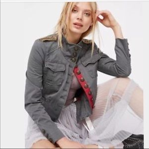 Free People Officer Military Jacket
